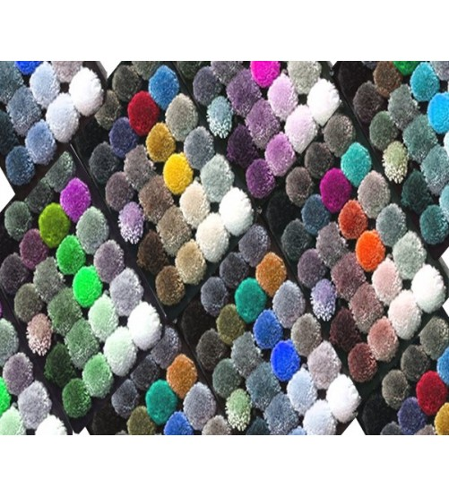 Viscose yarns rw and dyed